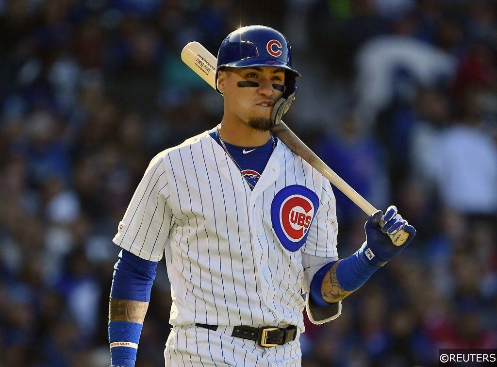 Javier Baez playing for the Chicago Cubs