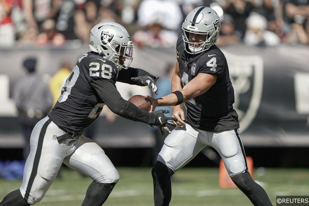 Josh Jacobs Running for Raiders