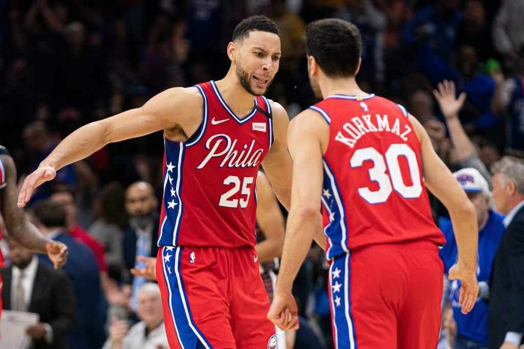Ben Simmons playing for 76ers