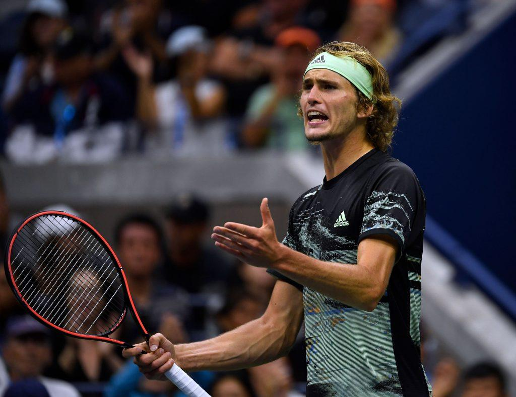 Alexander Zverev reacts to a point at the 2019 U.S. Open.