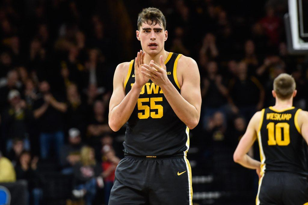 Luka Garza of the Iowa Hawkeyes looks to lead the team at both ends of the floor.