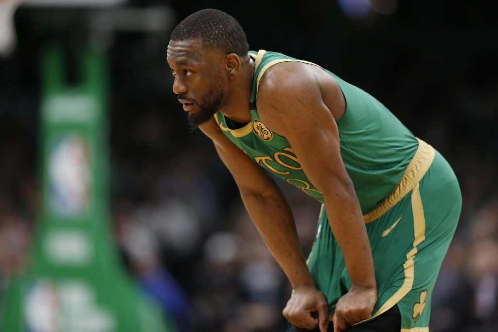 Kemba Walker playing for the Boston Celtics