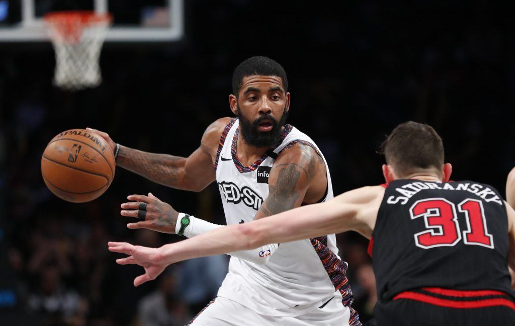 Kyrie Irving playing for Nets