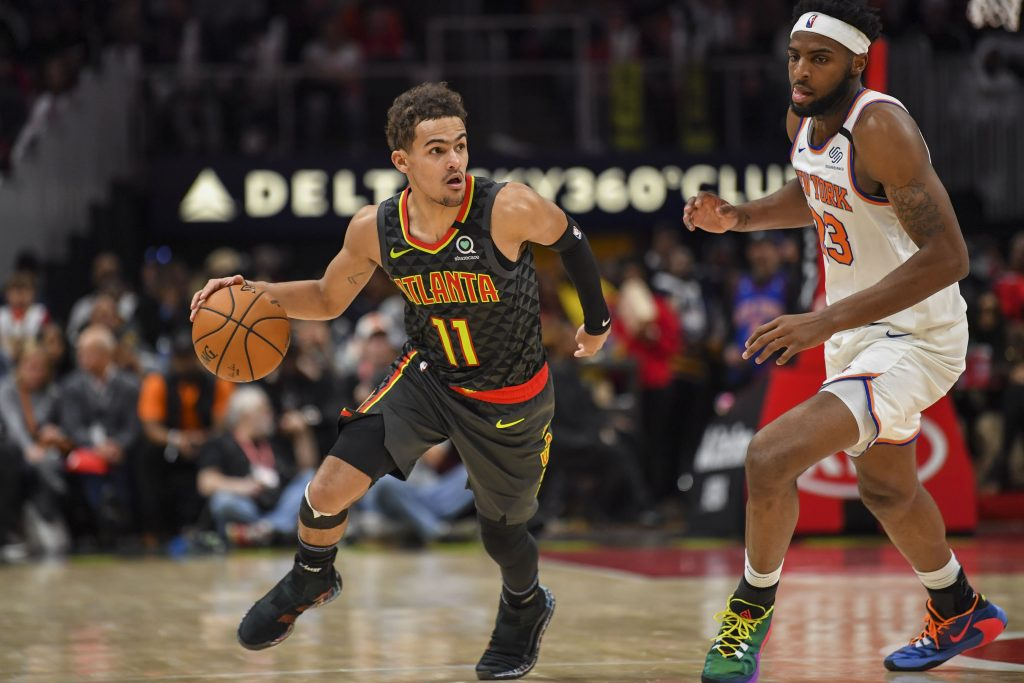 Trae Young Playing Against Knicks