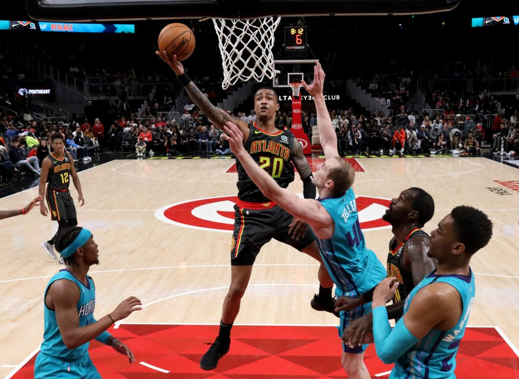 John Collins Playing Against Hornets