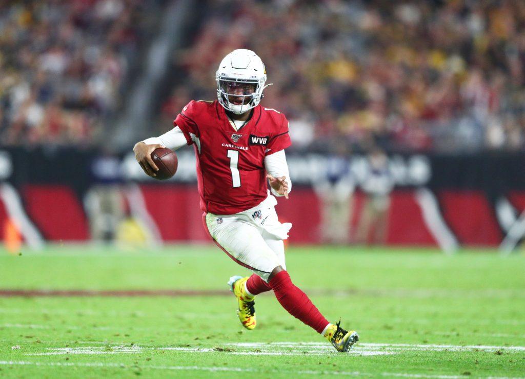 Arizona Cardinals QB Kyler Murray playing against the Seattle Seahawks