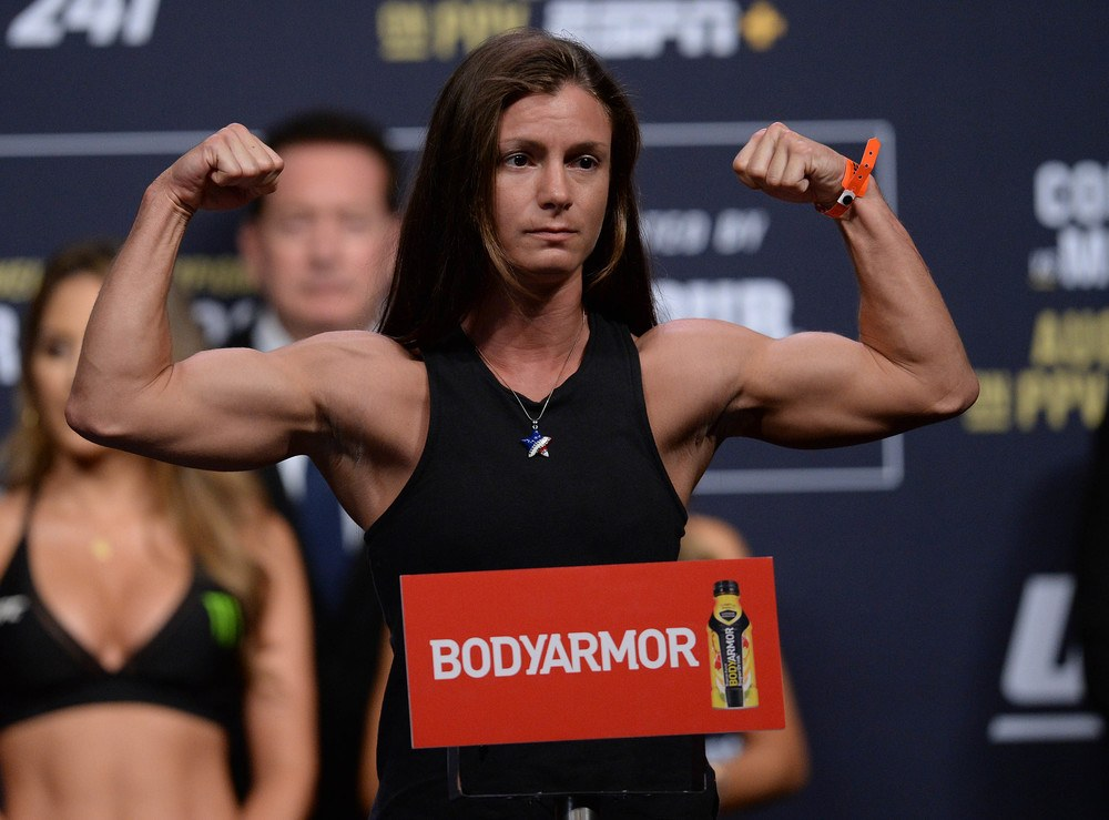 Hannah Cifers weighing in at UFC 241