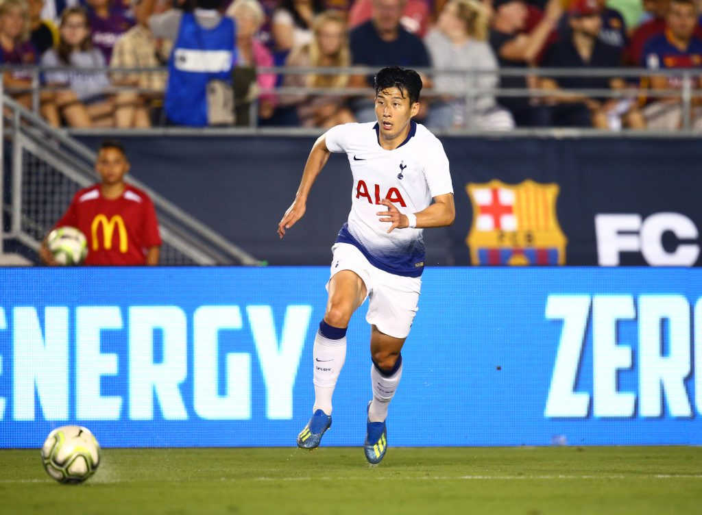 Heung min son playing for Spurs