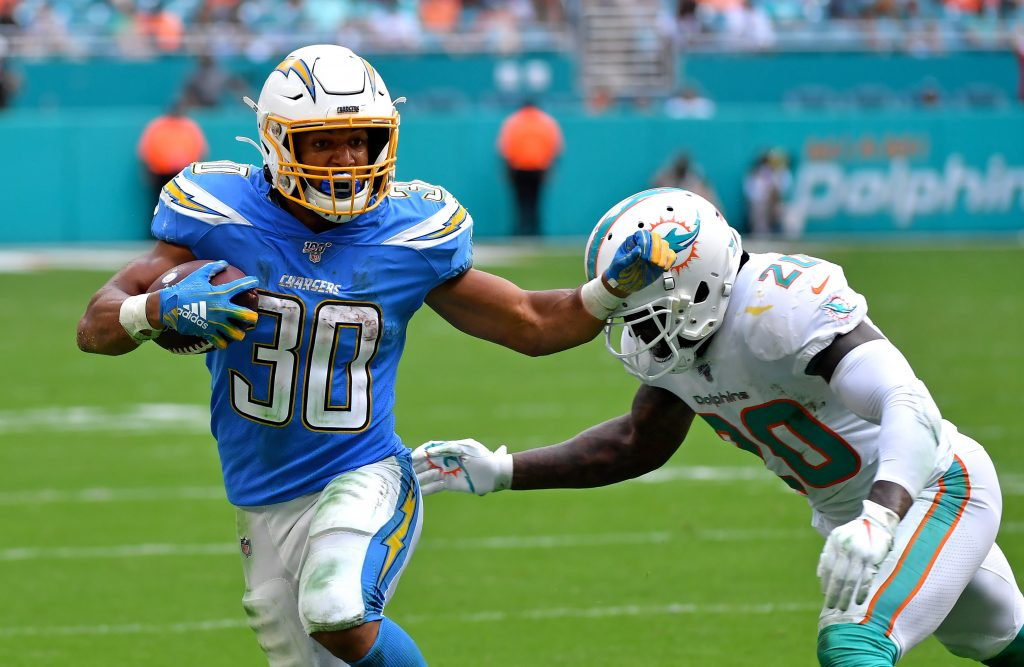 Angeles Chargers running back Austin Ekeler