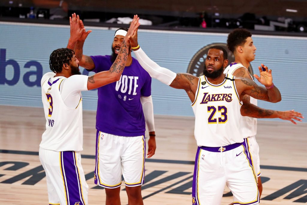 LeBron James and the Lakers win the title
