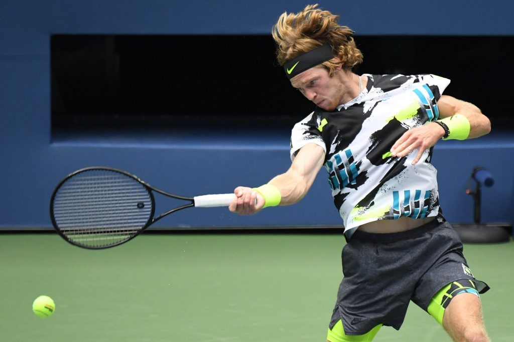 Andrey Rublev at the US Open