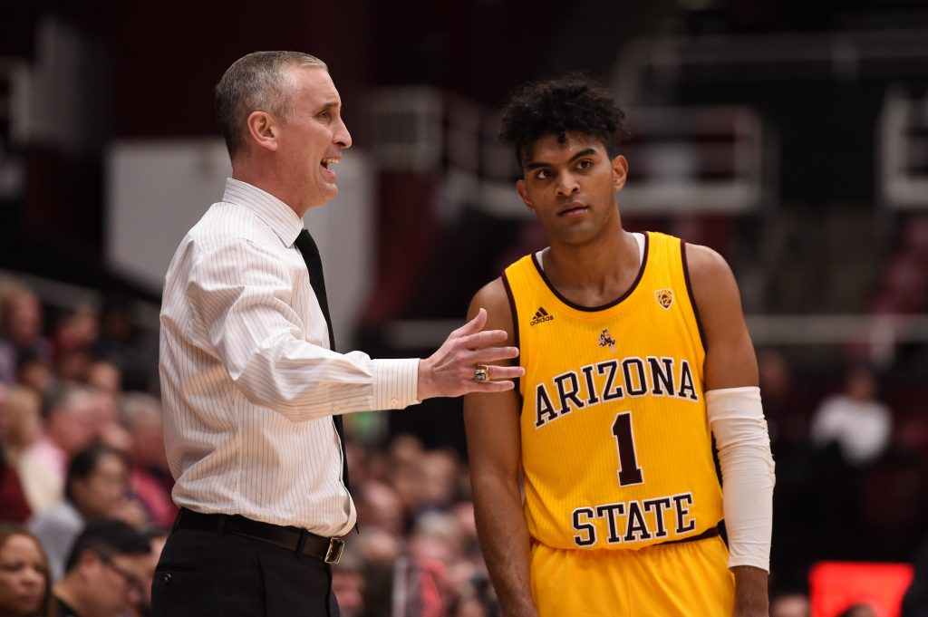 Remy Martin and Bobby Hurley of the Arizona State Sun Devils