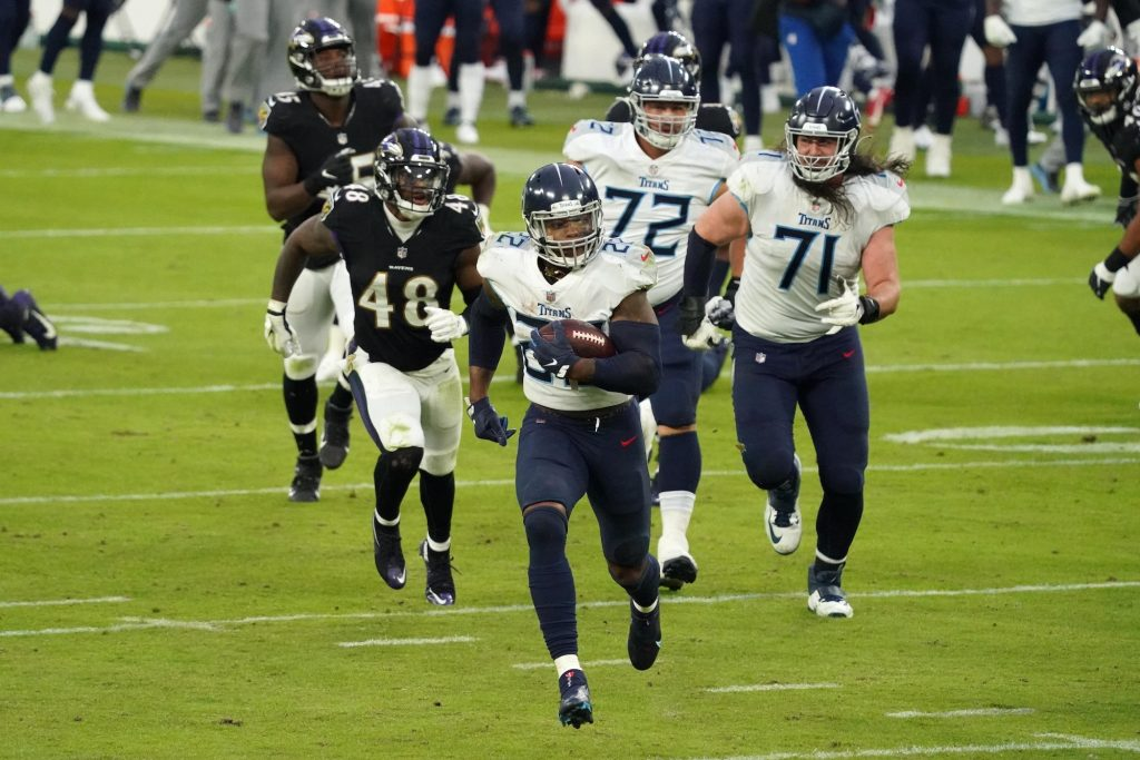 Derrick Henry scored in overtime as the Titans beat the Ravens in Week 11.