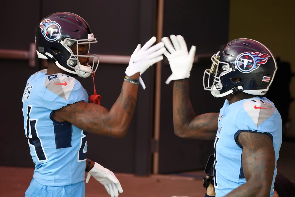 AJ Brown and Corey Davis of the Tennessee Titans