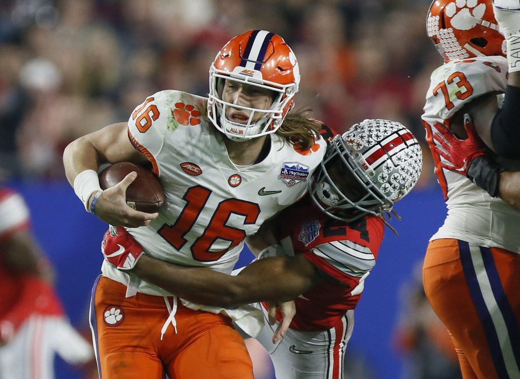 Trevor Lawrence of the Clemson Tigers