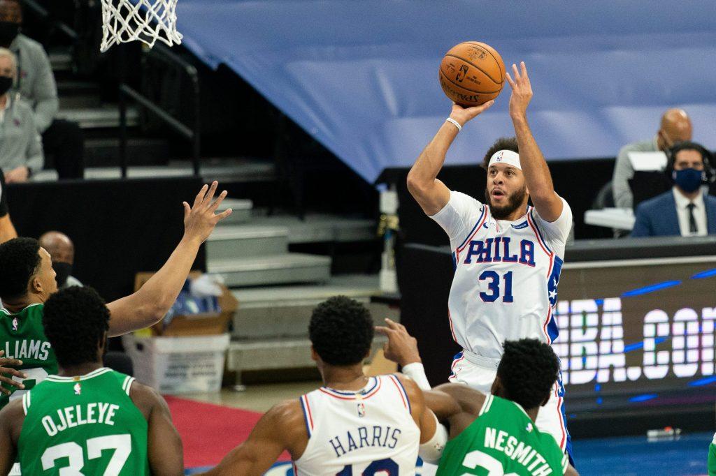 Seth Curry of the Philadelphia 76ers
