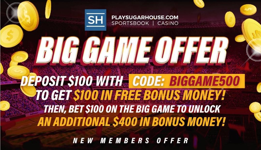 SugarHouse Big Game Offer