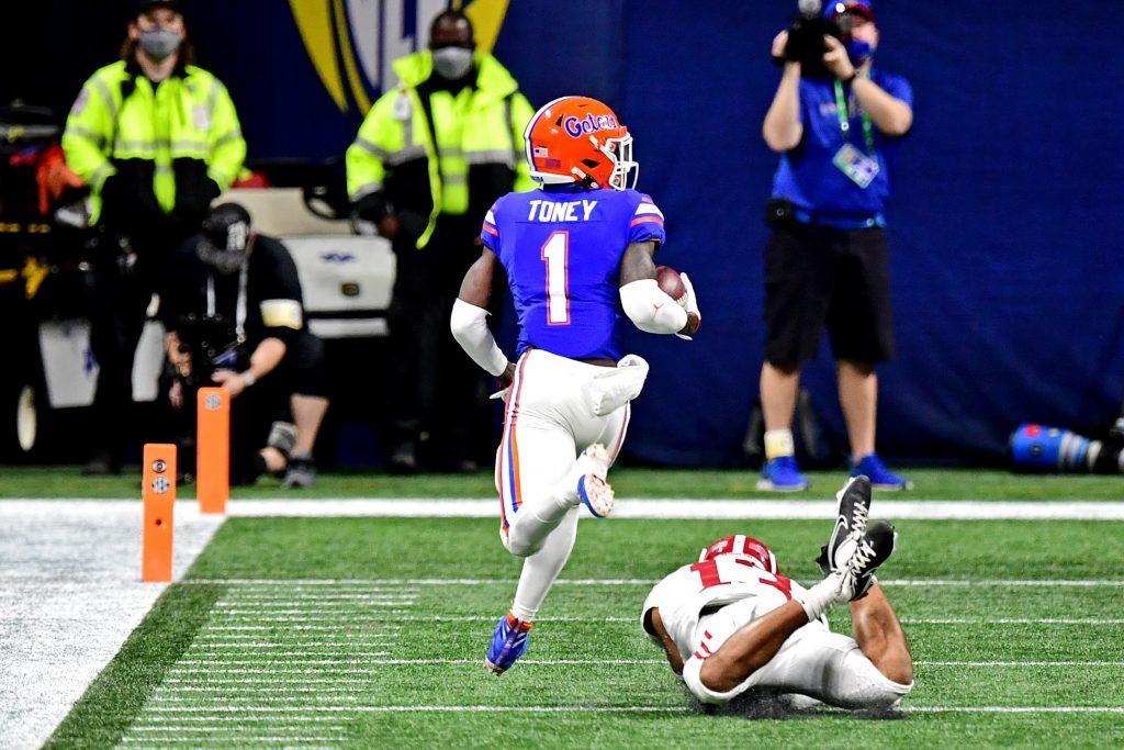 Kadarius Toney of the Florida Gators