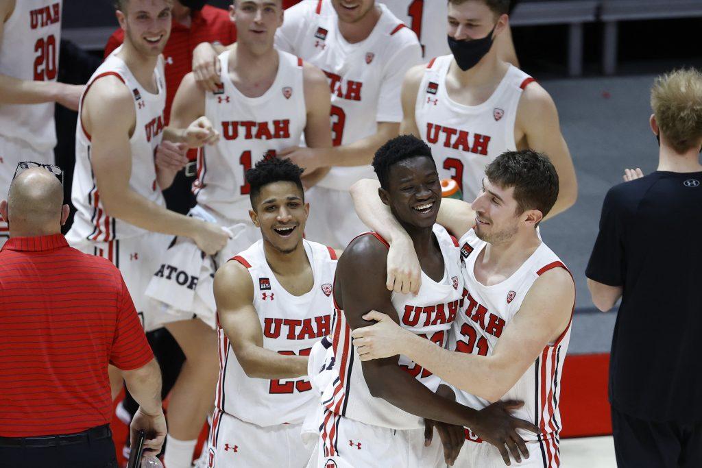 Utah Basketball Team Celebrates