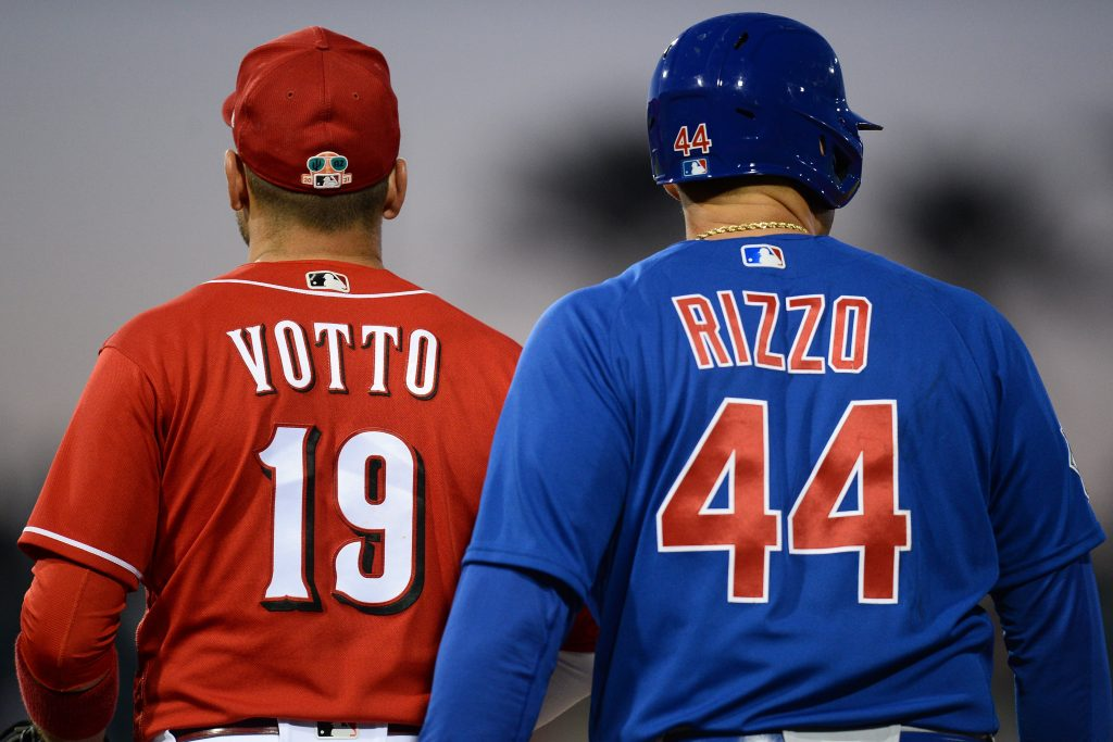 Joey Votto of the Reds and Anthony Rizzo of the Cubs