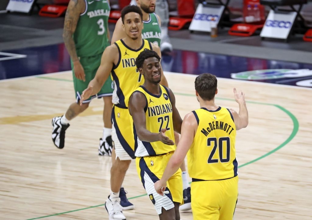 Caris Levert Pacers high five