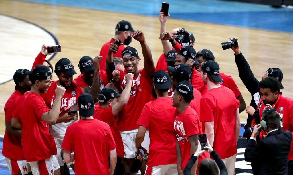 Houston Cougars celebrating