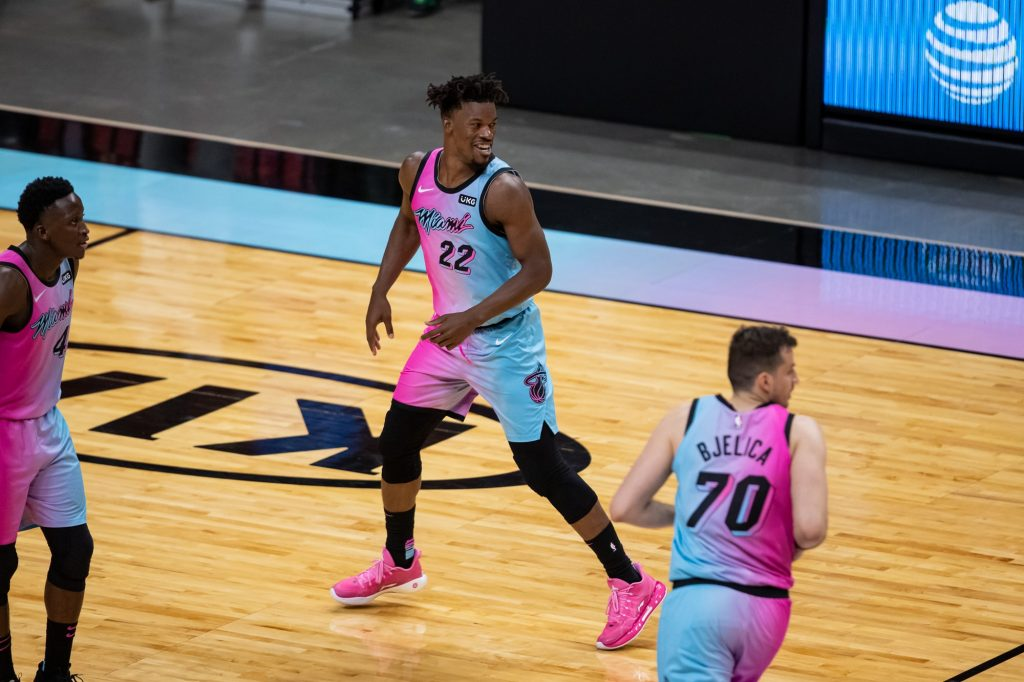 Jimmy Butler laughing