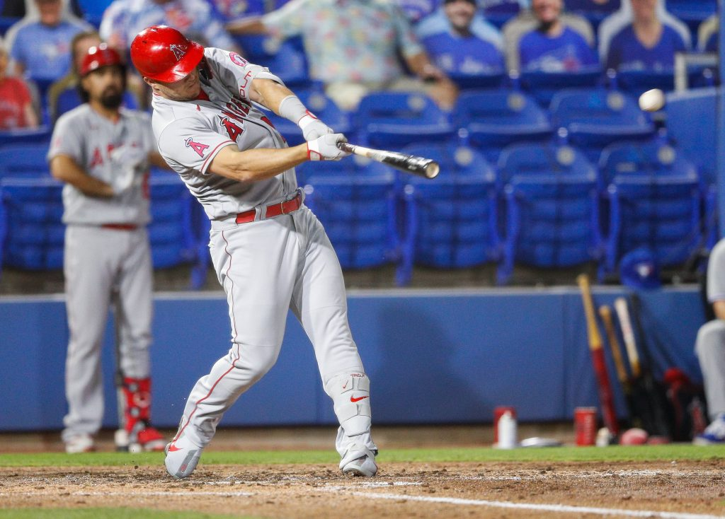 Mike Trout hitting