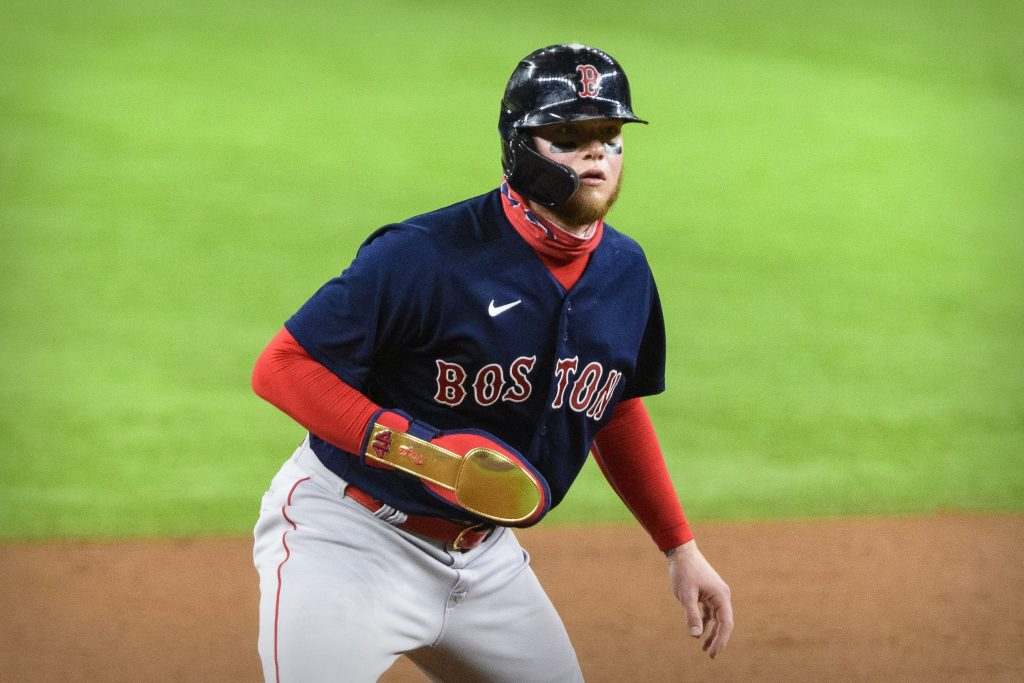 Boston Red Sox left fielder Alex Verdugo (99) runs the bases during the sixth inning against the Texas Rangers at Globe Life Field.