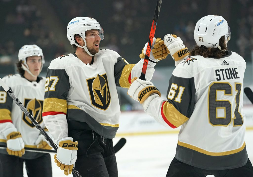 Shea Theodore and Mark Stone were two of Vegas' standout performers in the regular season.