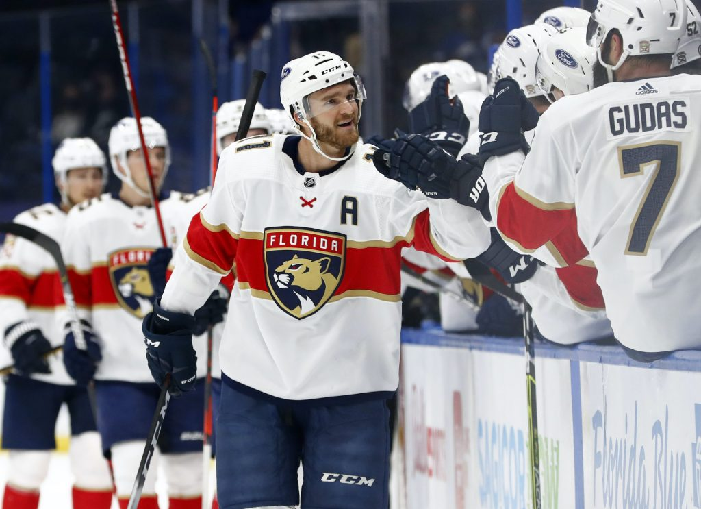 Jonathan Huberdeau is looking to take down the champs in the first round of the playoffs.