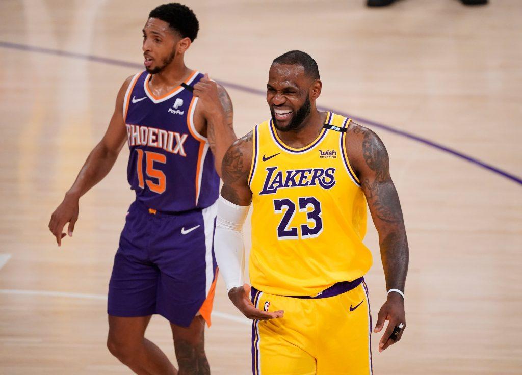 LeBron James Suns vs Lakers