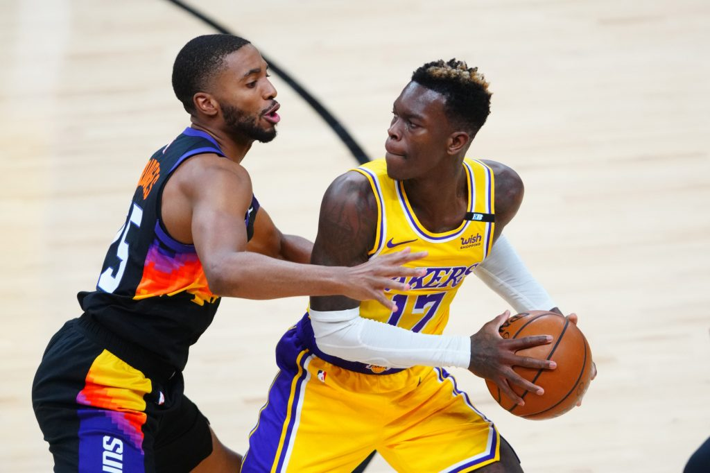Dennis Schoder Suns vs Lakers