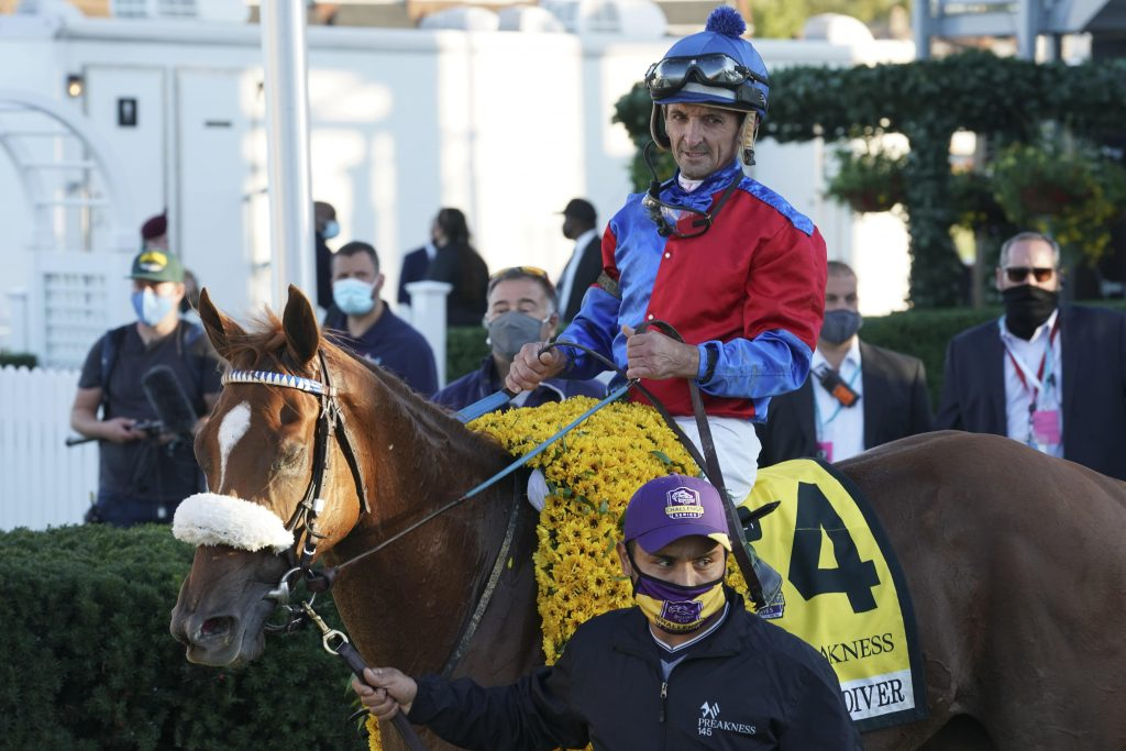 2020 Preakness winner Swiss Skydiver is set to run at Belmont Park in the Ogden Phipps Stakes