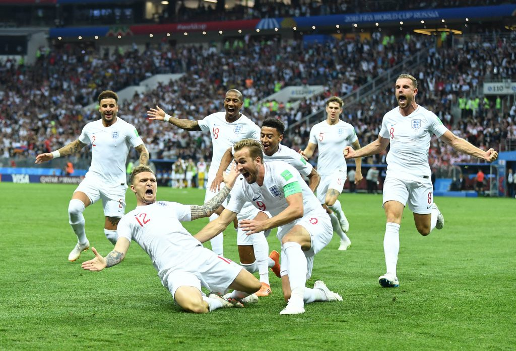 England reached the World Cup 2018 semi-finals