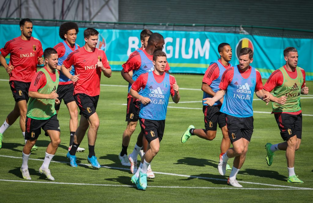 The Belgium squad prepare for their opening match of Euro 2020 against Russia