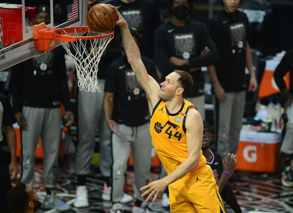Bojan Bogdanovic of the Utah Jazz