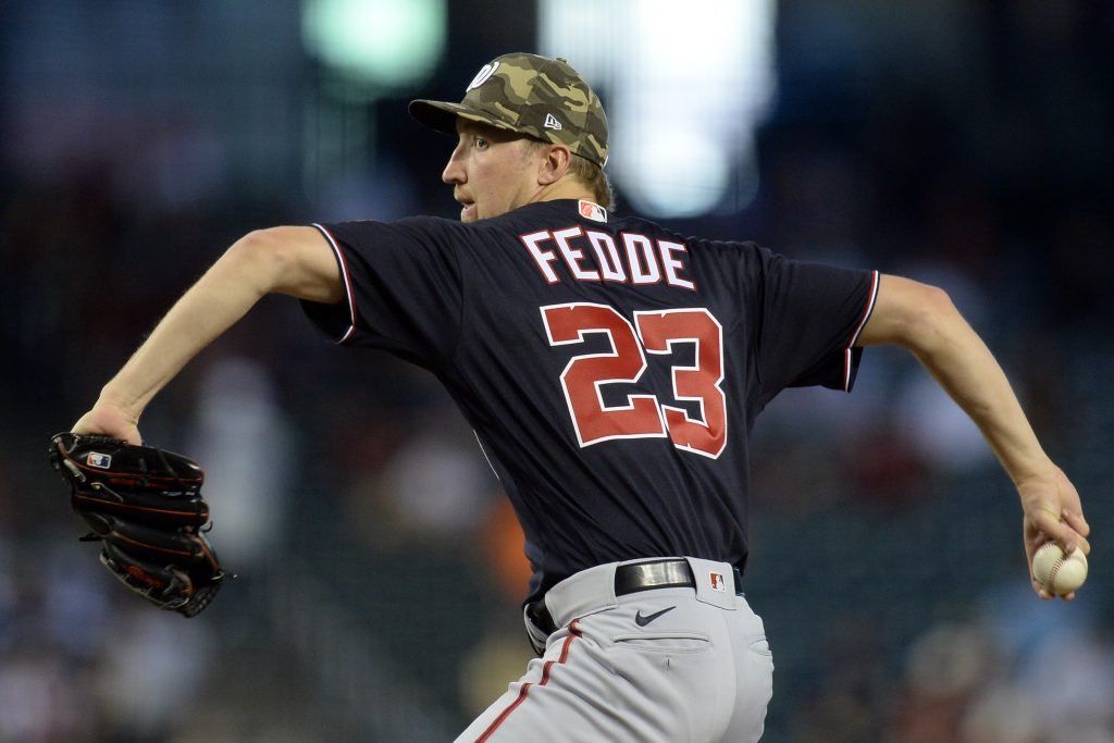 Washington Nationals pitcher Erick Fedde MLB player props