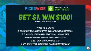 Bet 1 win 100 on the Olympics Draftkings