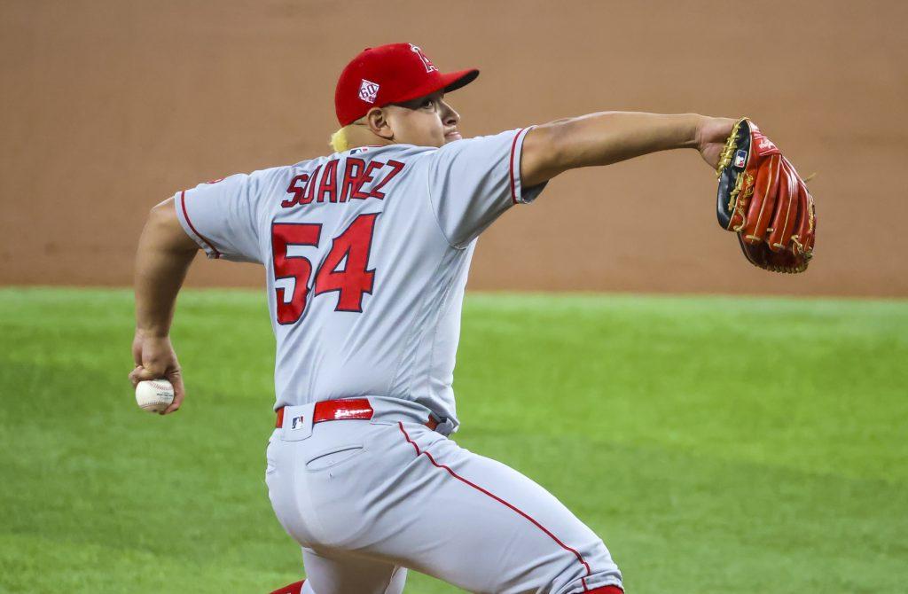 Jose Suarez Angels vs Yankees
