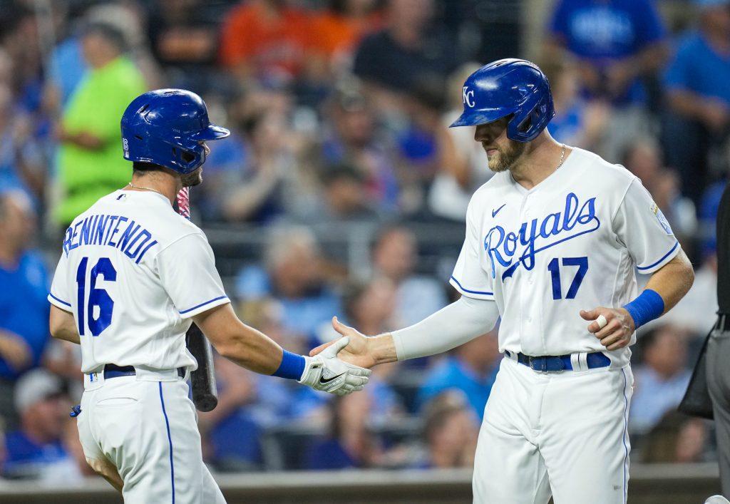 Hunter Dozier Royals vs Astros